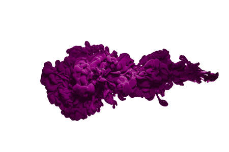 Abstract purple paint splash splash cloud isolated on white background.