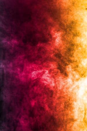 Red orange Smoke abstract background,Closeup. 免版税图像