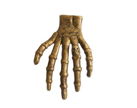 Hand bone  Metal hand bone   Isolated white