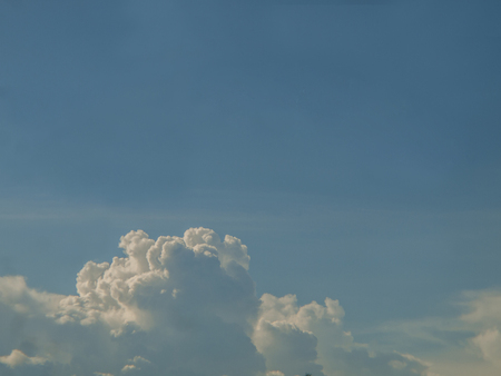 Clouds, blue sky  The sky in the rainy season of tropical countries Stock Photo
