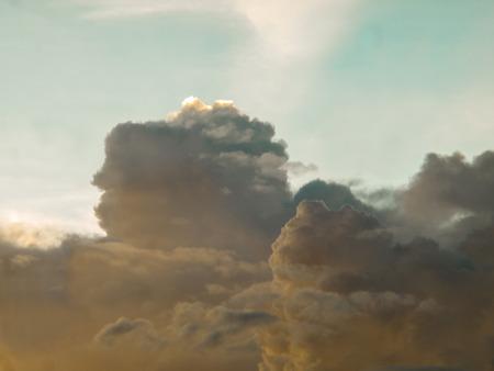 Clouds, rain, sky  The sky in the rainy season of tropical countries Stock Photo