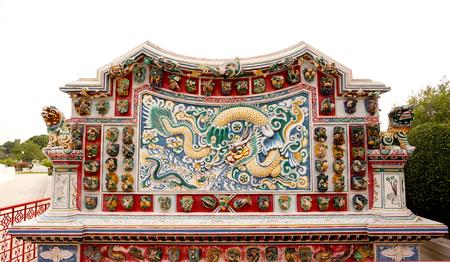bang pa in: Chinese dragon sculpture at Bang Pa In royal palace