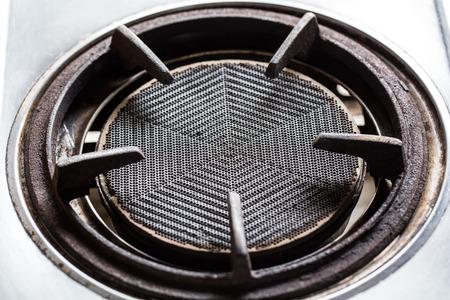 gas stove: Clean gas stove burner closeup