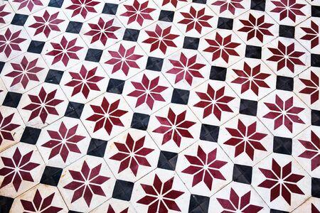 tile flooring: Tile flooring temple in Thailand.