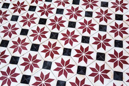 tile flooring: Tile flooring temple in Thailand Stock Photo