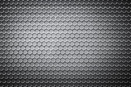 holed: Chrome metal holed or perforated grid background Stock Photo
