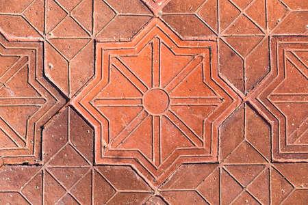 flagstone: pattern Flagstone walkway Stock Photo