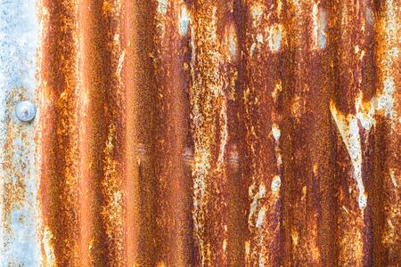 Rusted galvanized iron plate photo