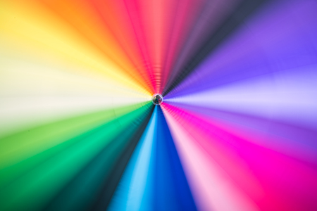 motion blur background from colourful umbrella