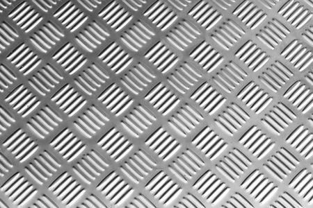 checkerplate: Seamless metal texture, Table of steel sheet. Stock Photo