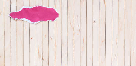 add text: wooden Torn paper background empty for add text Stock Photo