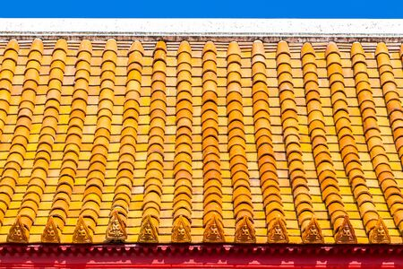 Church roof Buddhist temple in Thailand photo