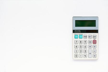 reckon: Digital calculator on white background