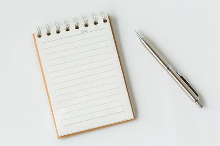 pencil and notebook Stok Fotoğraf