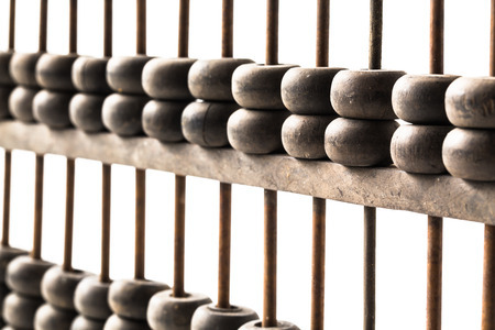 abaci: Close-Up Of Abacus, picture financial concept Stock Photo