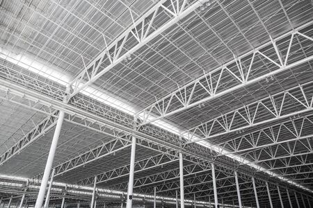 building structure: metal roof interiors structure of modern building