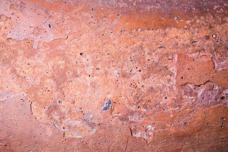 古代の陶器の破片のテクスチャ背景、セラミック、古典的な土、主に植木鉢に使用