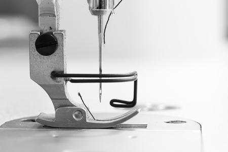 sewing pattern: Abstract Sewing machine and thread rolling.