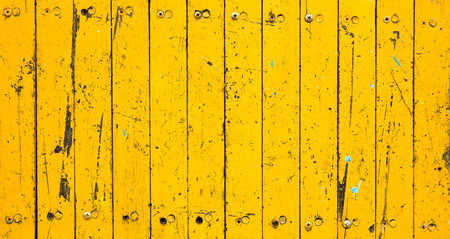 Yellow wooden texture wall pattern background texture.