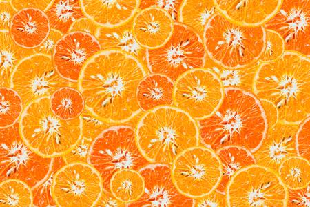 Sliced Orange fruit sliced isolated