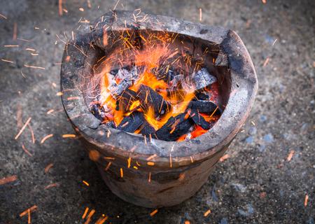 fireplace for background. Stok Fotoğraf