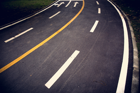 White line on the road texture background