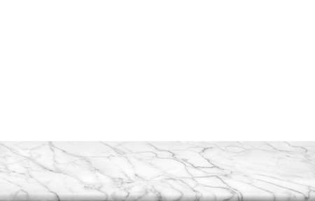 Abstract Natural texture marble floor on white background : Top view of marble table for graphic stand product, interior design or montage display your product.