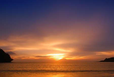evenings: sky,sea,mountain Stock Photo