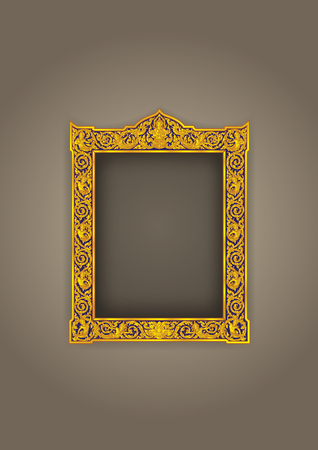 2ecc5c81cad thai frame vintage buddha Vector illustration.