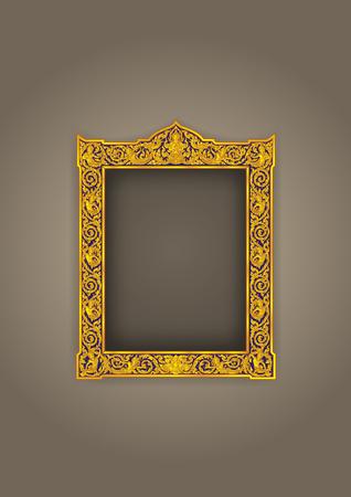 Thai Rahmen Vintage Buddha Vektor-Illustration Standard-Bild - 99780868