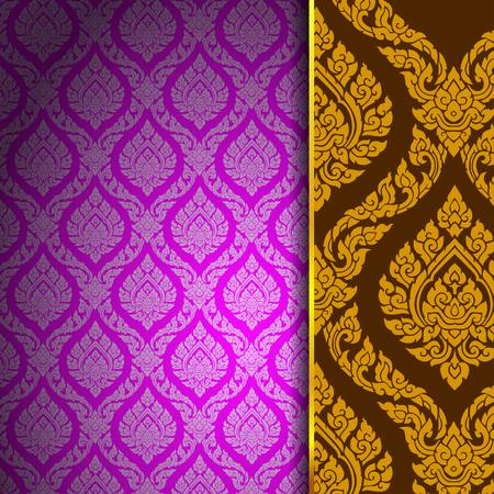 thai pattern background vintage vector Stok Fotoğraf - 99829622
