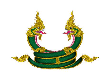 Naka Thailand logo vintage Vector illustration.