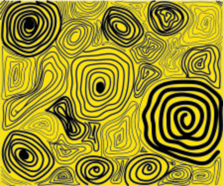 yellow spiral abstract texture