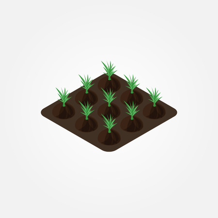 rural development: Create your own farm. set of design isometric elements in modern flat style. Vector illustration