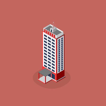modern architecture: modern architecture  Isometric  modern architecture icon illustration.