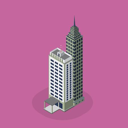 are modern: modern architecture  Isometric  modern architecture icon illustration.