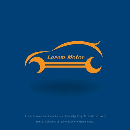 the car: abstract car. concept car. icon car. symbol car. vector car. brand car. symbol car. line car Illustration