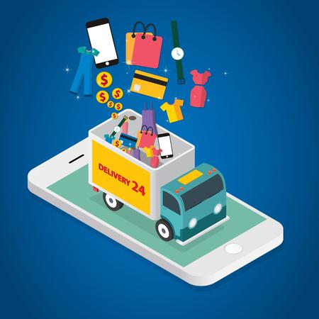 Vector concept of online shop