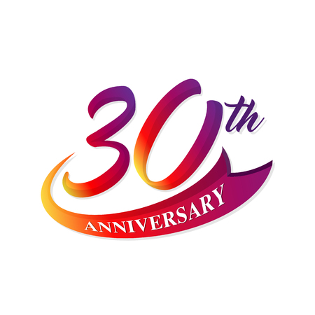 Anniversary emblems 30 anniversary template design 일러스트
