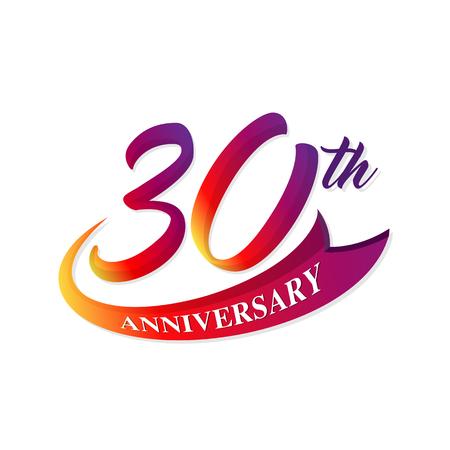 Anniversary emblems 30 anniversary template design Stock Illustratie