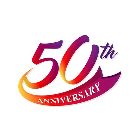 50: Anniversary emblems 50 anniversary template design Illustration