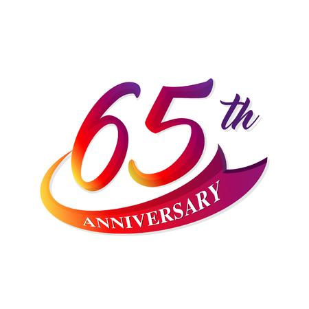 65: Anniversary emblems 65 anniversary template design