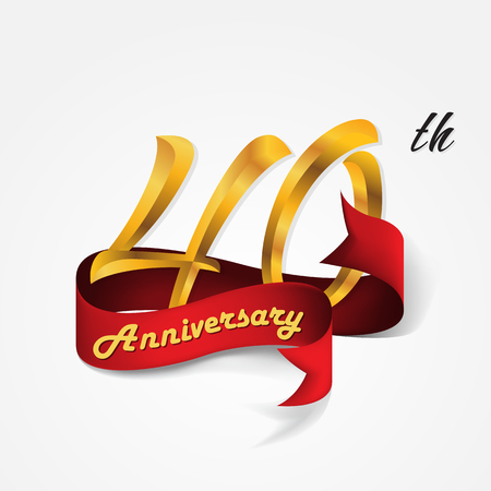 Anniversary emblems 40-anniversary template design