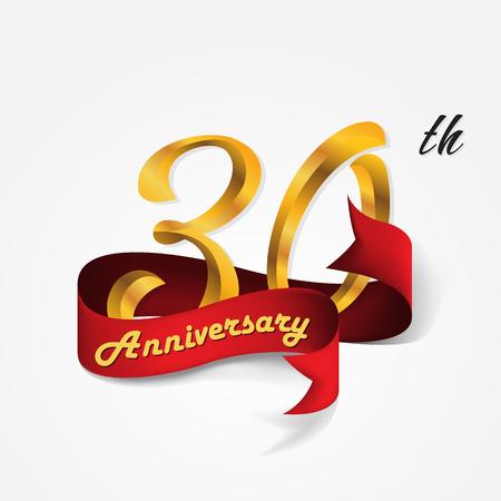Anniversary emblems 30-anniversary template design