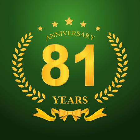 81: Anniversary emblems 81-anniversary template design