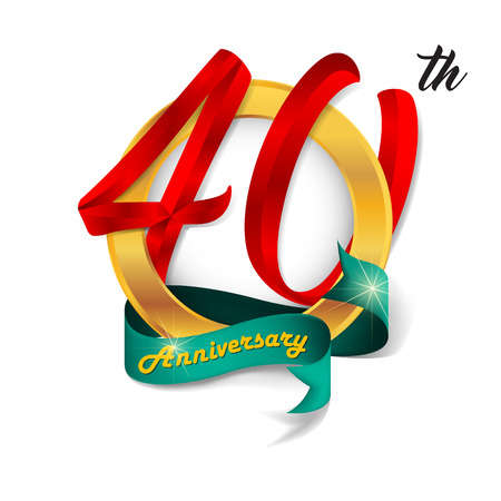 40: Anniversary emblems 40 anniversary template design