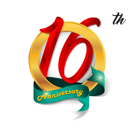 number 16: Anniversary emblems 16 anniversary template design
