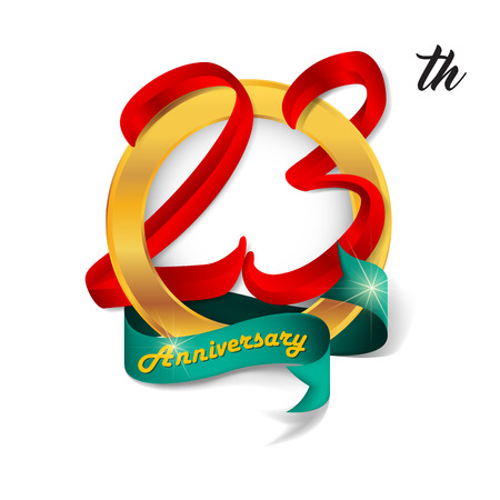 Anniversary emblems 23 anniversary template design