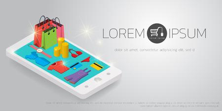 Vector concept van de online shop Stockfoto - 61301405