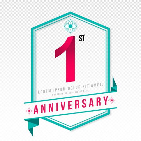 adorn: Anniversary emblems 1 anniversary template design